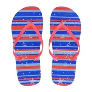 Shoes - Patriotic flip flops